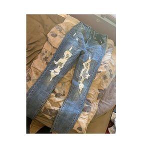 Distressed Fashion Nova Skinny Jeans BNWT